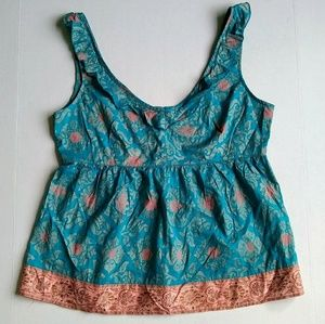 Anthropologie Edme & Esyllte blue pink tank top